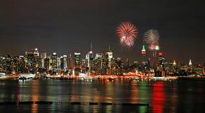 Mid-town Manhattan skyline Stock Photography