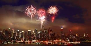 The Mid-town Manhattan Skyline Stock Photography