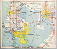 Mid Twentieth Century Map of Tampa Stock Photo