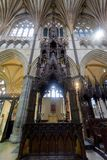 Mid View of Cathedra in Exeter Cathedral Stock Image