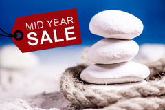 Mid year sale. Discount and promotion concept decoration royalty free stock photos