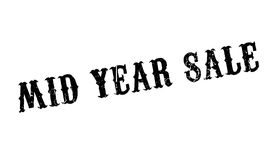 Mid Year Sale rubber stamp. Grunge design with dust scratches. Effects can be easily removed for a clean, crisp look. Color is easily changed Royalty Free Stock Image