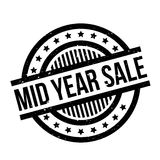Mid Year Sale rubber stamp. Grunge design with dust scratches. Effects can be easily removed for a clean, crisp look. Color is easily changed Royalty Free Stock Photos