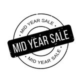 Mid Year Sale rubber stamp. Grunge design with dust scratches. Effects can be easily removed for a clean, crisp look. Color is easily changed Stock Photos