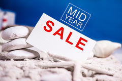 Mid year sale sign Royalty Free Stock Photo