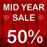 Mid year sale 50% Stock Photography