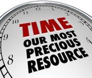 Mida el tiempo de nuestro valor más precioso de las demostraciones del reloj del recurso de la vida stock de ilustración