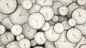 Mida el tiempo del concepto, manojo de relojes que 3d rinden Ilustración del Vector