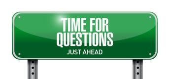 mida el tiempo para el diseño del ejemplo de la señal de tráfico de las preguntas Imagen de archivo libre de regalías