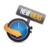mida el tiempo para el nuevo ejemplo de la muestra del concepto de las ideas Foto de archivo