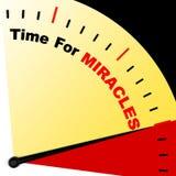 Mida el tiempo para la fe del significado del mensaje de los milagros en dios Foto de archivo