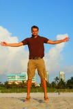 Midair Man. Image of a man levitating stock photos