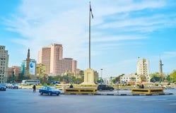 Midan Tahrir i Kairo, Egypten Arkivfoton