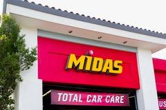 Midas Automotive Service facility Royalty Free Stock Photos