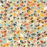 Midcentury geometric retro pattern, vintage colors, retro wallpapers. Midcentury geometric retro background. Vintage brown, orange and teal colors. Seamless vector illustration