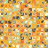 Midcentury geometric retro pattern, vintage colors, retro wallpapers. Midcentury geometric retro background. Vintage brown, orange and teal colors. Seamless stock illustration