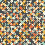 Midcentury geometric retro pattern, vintage colors, retro wallpapers Royalty Free Stock Photos