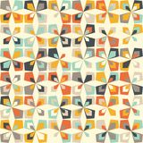 Midcentury geometric retro pattern, vintage colors, retro wallpapers Royalty Free Stock Photo