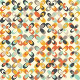 Midcentury geometric retro pattern, vintage colors, retro wallpapers Royalty Free Stock Images