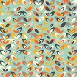 Midcentury geometric retro pattern, vintage colors, retro wallpapers Stock Image