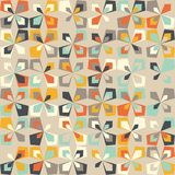 Midcentury geometric retro pattern, vintage colors, retro wallpapers. Midcentury geometric retro background. Vintage brown, orange and teal colors. Seamless royalty free illustration