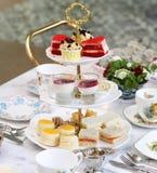 Middag Britse snacks stock fotografie