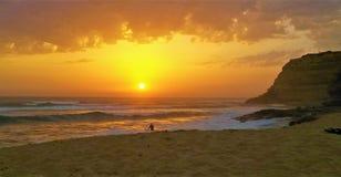 Middag die in Ribeira D ` Ilhas surfen stock afbeelding