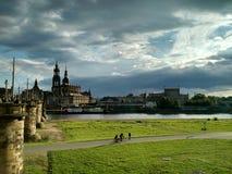 Middag in Dresden, Duitsland royalty-vrije stock foto's