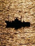 Middag gouden boot royalty-vrije stock foto