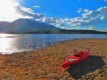 Middag het kayaking stock foto's