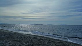 Middagdag op een Siciliaans strand Stock Foto