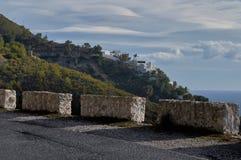 Middaggang op de berg van de heuvel in Granada stock foto