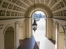 Middagmening van het mooie Stadhuis van Pasadena in Los Angeles, Californië stock afbeelding