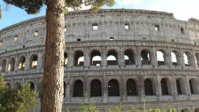 Middagpanning van colosseum, Rome wordt geschoten dat stock footage