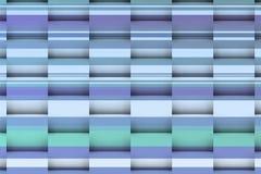 Middagschaduwen op blauwe lijnen Stock Foto's