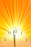 Midday clock Royalty Free Stock Photo