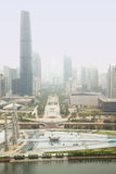 Midday haze over Guangzhou Stock Images