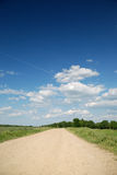 Midday summer landscape with road Stock Photography