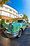 Midday view at ocean drive Stock Photography