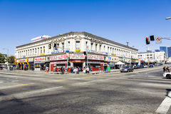 Midday view to Langers Square in Los Angeles Stock Image