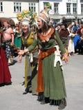 Middelalder-Festival stockfotos