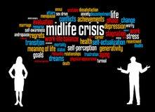 Middelbare leeftijdcrisis vector illustratie