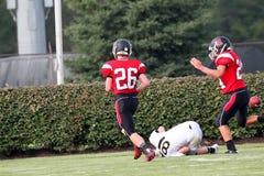 Middelbare school Amerikaanse Voetbal Stock Foto's