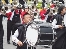 Middelbare school het marcheren band Stock Afbeeldingen