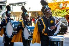 Middelbare school het marcheren band Royalty-vrije Stock Foto