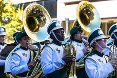 Middelbare school het marcheren band Royalty-vrije Stock Afbeeldingen