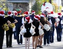 Middelbare school het marcheren band Stock Foto
