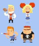 Middelbare schoolkarakter - reeks Stock Afbeeldingen