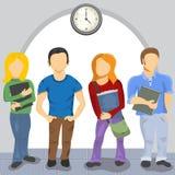 Middelbare schoolstudenten Stock Foto's