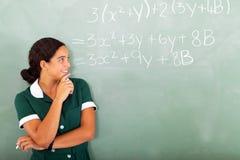 Middelbare schoolwiskunde Royalty-vrije Stock Foto